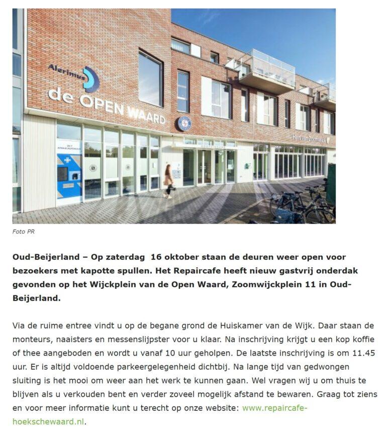Repair Cafés Hoeksche Waard